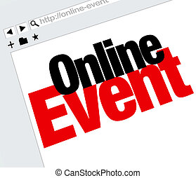 Online Event Website Words Internet Digital Meeting Show -...