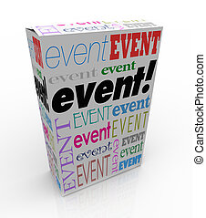 Event Word Package Box Advertise Special Show Meeting -...