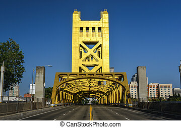 Tower Bridge, Sacramento, California - The Tower Bridge...