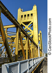 Tower Bridge, Sacramento, California - The Tower Bridge 1935...