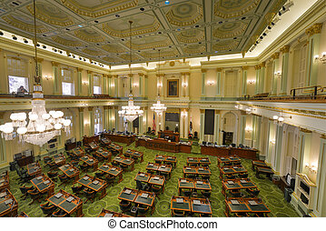 California Assembly Chamber - SACRAMENTO, CALIFORNIA - MAY...