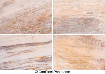 Four different marble background.