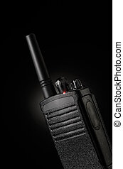 Radio transceiver - Portable radio transceiver on black...