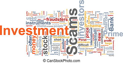 Investment scams word cloud - Word cloud concept...