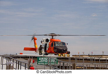 helicóptero, Guarda,  jayhawk, salvamento, costa