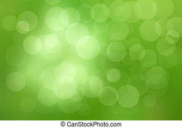 bokeh green light background