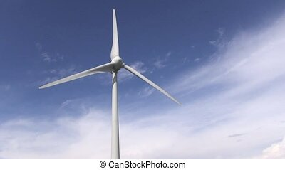 Wind power with blue sky backgroundenergy fuel concept
