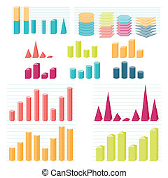 Set of infographic diagram elements for design.