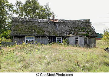 farmstead - Abandoned and dilapidated houses in different...