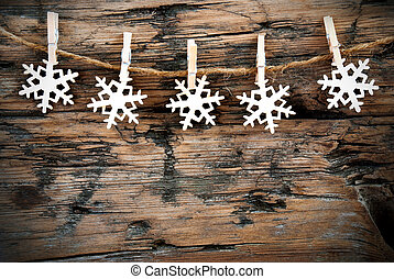 Snowflake-line - Christmas or Winter Background with...
