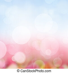 Pink  and blue  Festive background with light beams