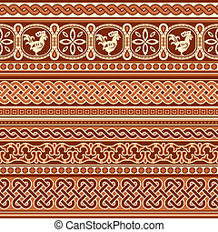 slavic ornament seamless - seamless vector background with...