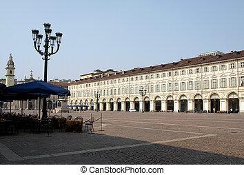 Piazza San Carlo, Turin - Piazza San Carlo royal square in...