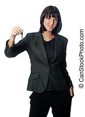 Businesswoman with Key
