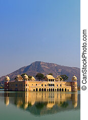 Jal Mahal - The Jal Mahal Water Palace located in Mansagar...