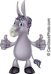 Donkey cartoon - An illustration of a cute cartoon donkey...
