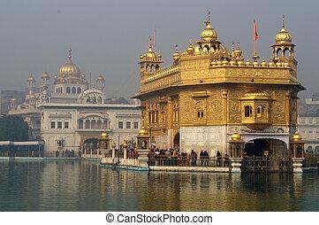 Golden Temple - Harmandir Sahib on a bright sunny day