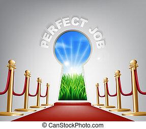 Perfect Job conceptual illustration - Perfect job Door...