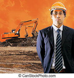 Excavator - Engineering with Excavator working at...