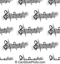 Seamless musical composition with music notes