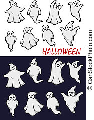 Cute Halloween ghosts