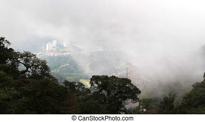 Overlook the cityscape form Genting,Malaysia