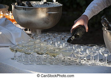 beverage at a buffet - beverage service in a buffet with...
