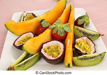 Fruit Platter - Delicious fruit platter of canteloupe,...