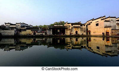 Beautiful scene of Hong Village in Anhui, China