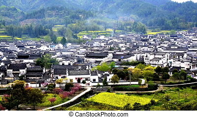 Breathtaking view of Hong Village in Anhui, China