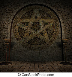 Indoor Pentagram Background - Indoor pentagram background