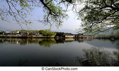 Beautiful scene of Hongcun Village in Anhui, China