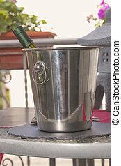 Wine in bucket