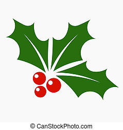 Holly berry icon Christmas symbol vector illustration