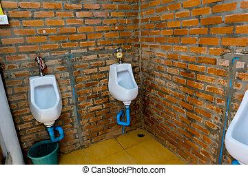 Mens room urinals