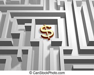 dollar in labyrinth