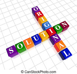 color original solution like crossword