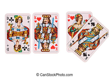 Playing adultery - Playing cards to be used as a background...