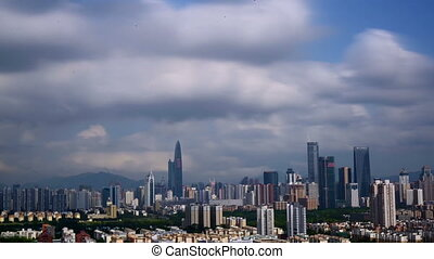 Panorama of Shenzhen city, Guangdong Province, China