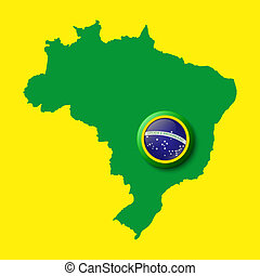 Brazil Background for your presentations Vector illustration...