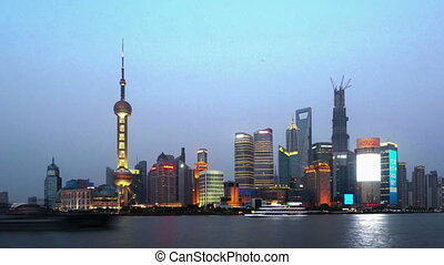 From day to night, view of Pudong - From day to night,the...