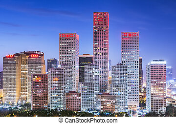 Beijing, China Financial District - Beijing, China skyline...