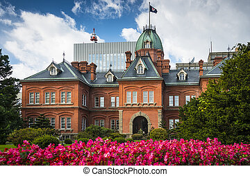 Former Hokkaido Government Office - Sapporo, Japan at the...