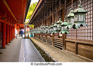 Kasuga Taisha Shrine - NARA, JAPAN - NOVEMBER 18, 2012:...