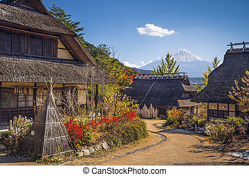 Fuji Village - Mt Fuji, Japan viewed from Iyashi-no-sato...