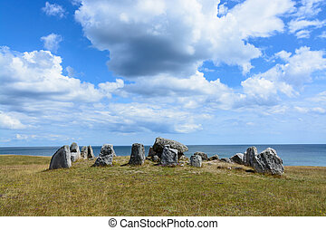 The Haväng Dolmen. An important burial place from the...