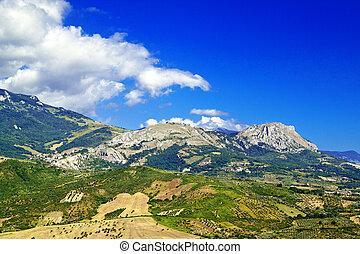 Abruzzo countryside nonies - Abruzzo landscape from Tocco da...