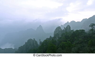 Floating cloud of Yellow Mountain in Anhui, China