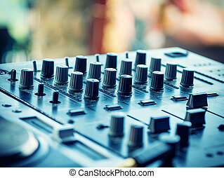 Closeup of dj controller - selective focus - Closeup of dj...