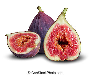Fig Fruit - Fig fruit concpt as a group of fresh figs in a...